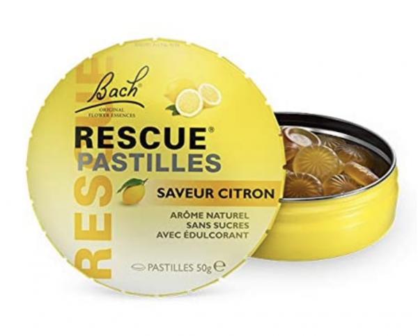 Pastille Rescue Citron - fleurs de Bach - Véronique Massard - Alchimiste Emotionnelle